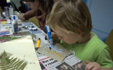 Ustvarjalnice – Izdelava novoletnih voščilnic 13.december 2013